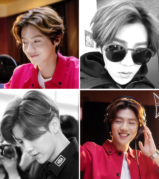 kpop korean boy group band exo former luhan kpop hair for guys middle part