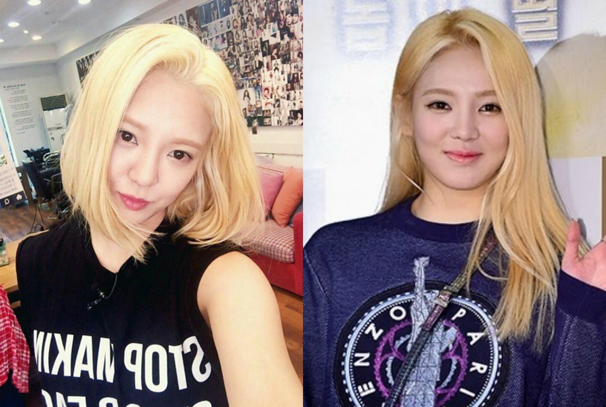 kpop girl group snsd hyoyeon kpop idol haircut transformations korean short vs long hair