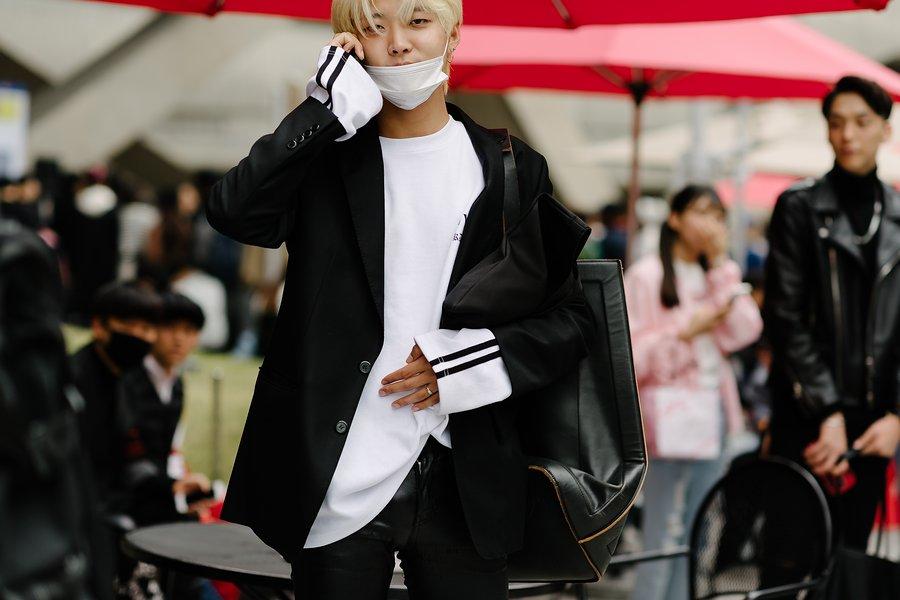 kpop idols korean model seoul fashion week street style business casual for guys men kpopstuff