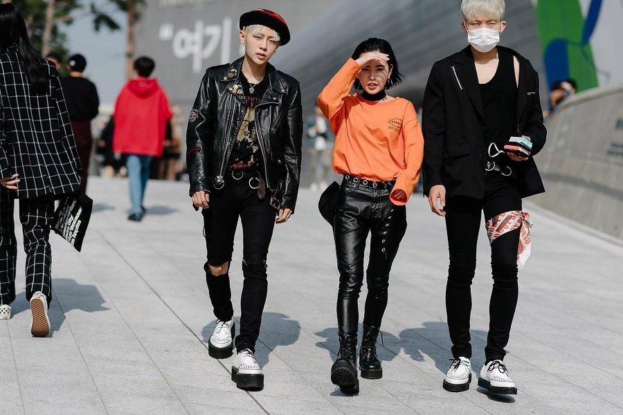 kpop idol korean models fall seoul fashion week street style casual for girls guys unisex kpopstuff