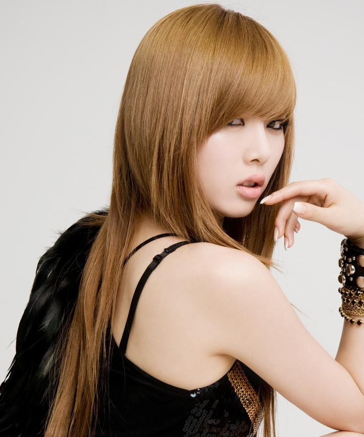 korean kpop girl group 4minute hyuna change hairstyle hair for girls kpopstuff