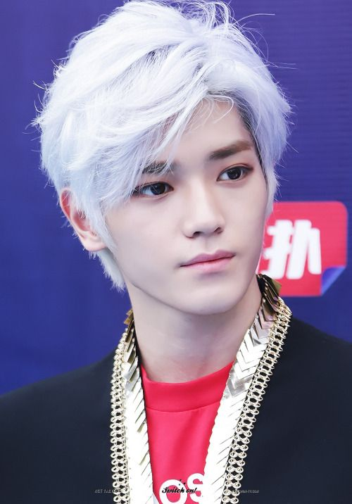 korea korean kpop idol boy band group nct nct u nct 127 taeyong anime inspired white hair dye hairstyles for guys kpopstuff