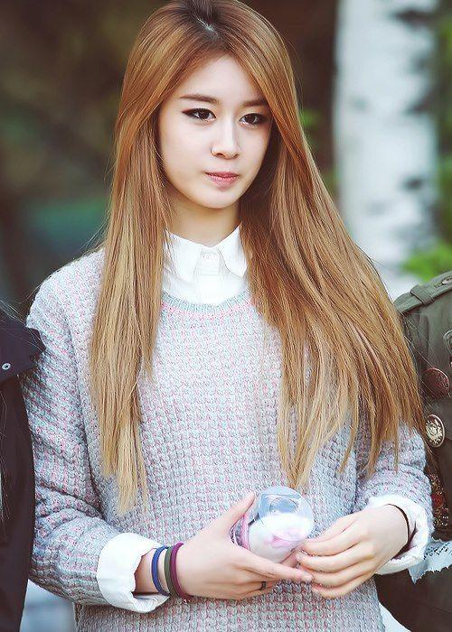 korean girl group kpop tara t-ara jiyeon straight hair hairstyles for girls kpopstuff
