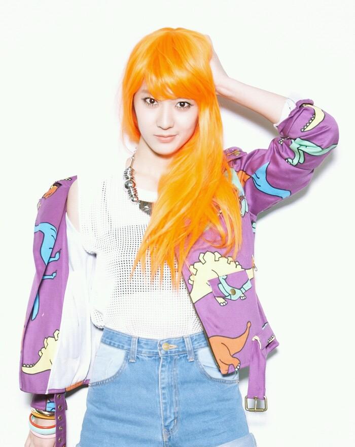 6c152880c korean kpop girl band group f(x) krystal orange hair dye color idol  hairstyles for girls kpopstuff - Kpop Korean Hair and Style
