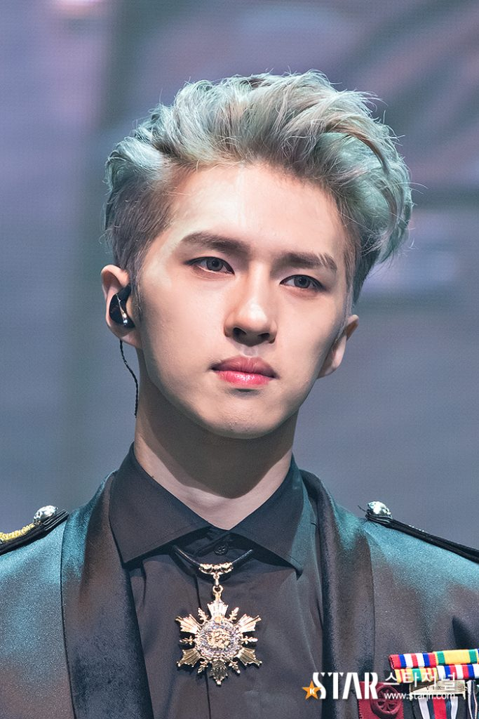 korea korean kpop idol boy band group vixx ken's two block haircut hairstyle trending haircut bangs up silver grey colored hairstyles for guys kpopstuff