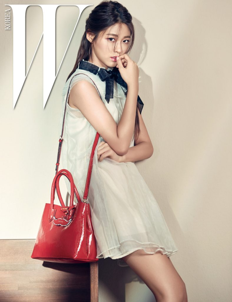 korea korean kpop idol girl band group aoa seolhyun's dress fashion white collar outfits style for girls kpopstuff