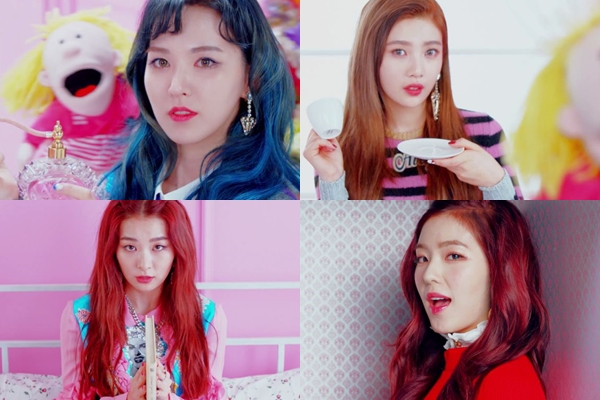 korea korean kpop idol girl group band red velvet rookie hairstyle wendy joy irene bold colored hairstyles for girls kpopstuff