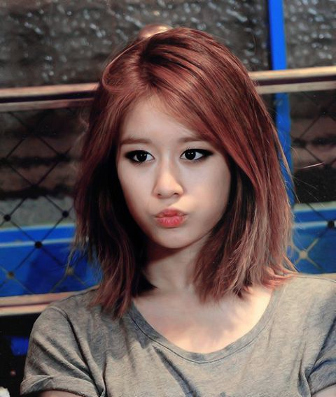 korea korean kpop idol girl group band tara t-ara jiyeon's lob hairstyle messy long bob haircut hairstyles for girls kpopstuff