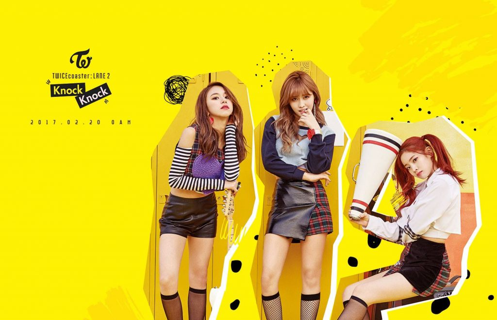 korea korean kpop idol girl group band twice's knock knock fashion chaeyoung momo dahyun black checked stripes teaser fashion outfit for girls kpopstuff