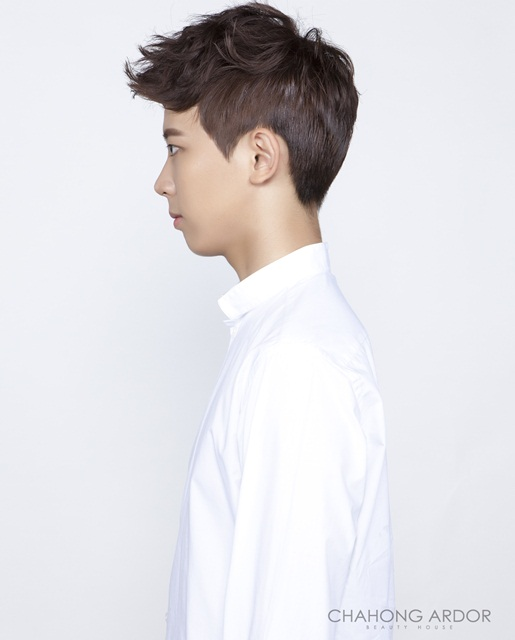 medium two block haircut korean asian kpop guys hairstyles