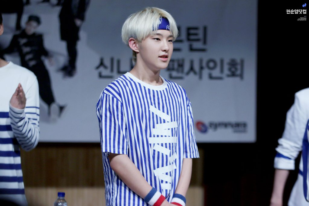 korea korean kpop idol boy band group seventeen hoshi's headband looks bandana hair sporty casual wear style outfit looks for guys kpopstuff