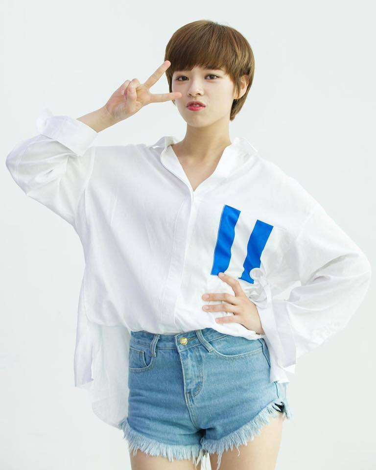korea korean kpop idol girl band group twice jungyeon's short pixie cut shortcut haircut hairstyles for girls kpopstuff