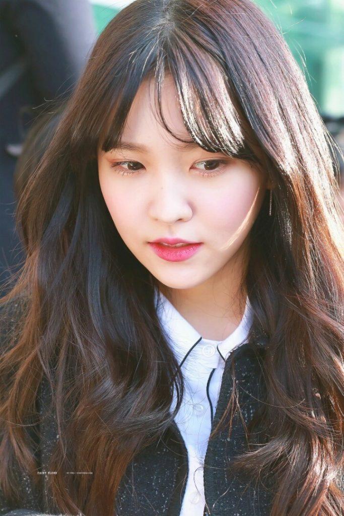korean curly hair with bangs korean picture discount
