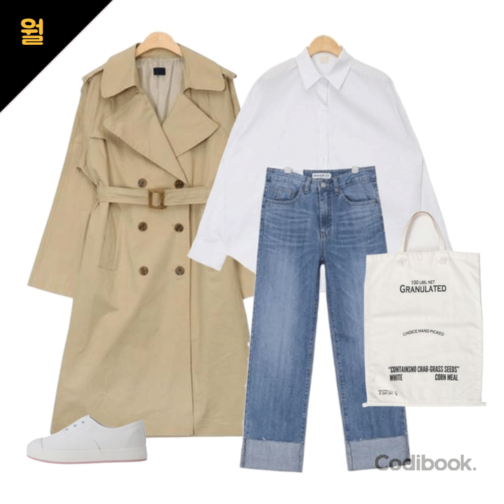 Korea Korean Kpop Idol Girl Group Band Kdrama Actress Streetwear Fashion Outfit Ideas For April Trench Coat Jeans White Shirt Casual Style Looks Girls Kpopstuff Kpop Korean Hair And Style