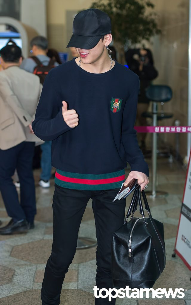 korea korean kpop idol boy band group got7 bambam's birthday outfit sweater preppy style fashion for guys kpopstuff main