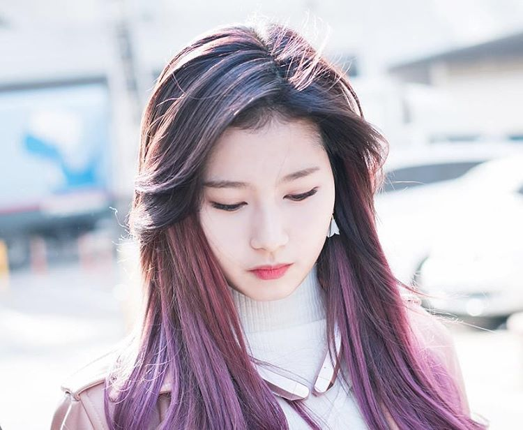 Spring Hair Trend ALERT TWICE Sana39s Purple Hair  Kpop Korean Hair And